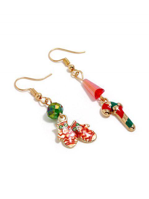 Рождественская конфета Перчатки Асимметричные Серьги - Золотой  Mobile