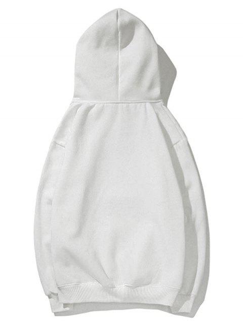 Cisne letra pequeña gota sólido básico hombro con capucha - Blanco L Mobile