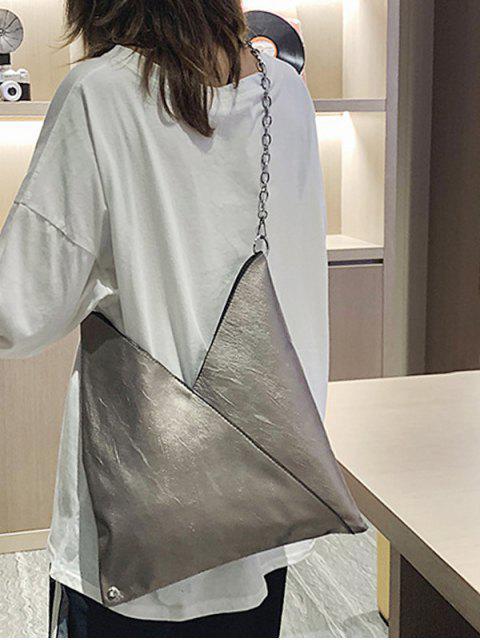 PU кожа Цепь Мягкая Сумка через плечо - Облачный серый  Mobile