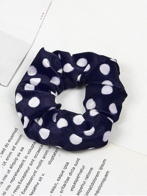 women's Polka Dot Elastic Fabric Scrunchy - BLUE  Mobile