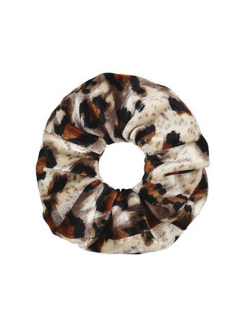 lady Leopard Elastic Velour Fabric Scrunchy - MULTI-B  Mobile