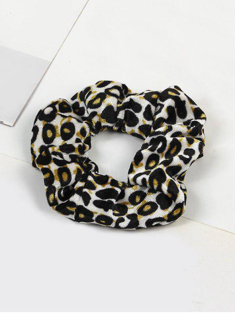 unique Leopard Elastic Velour Fabric Scrunchy - MULTI-C  Mobile