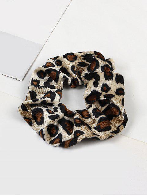 women's Leopard Elastic Velour Fabric Scrunchy - MULTI-D  Mobile