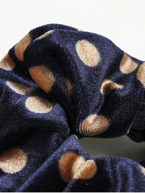 new Polka Dot Elastic Fabric Scrunchy - CADETBLUE  Mobile