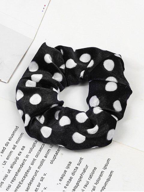 chic Polka Dot Elastic Fabric Scrunchy - WHITE  Mobile