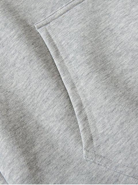 Cisne letra pequeña gota sólido básico hombro con capucha - Gris 3XL Mobile