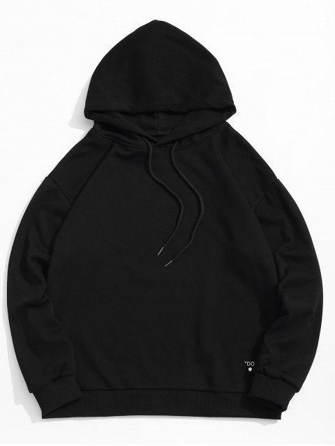 Carta cordón Estampado con capucha - Negro S Mobile