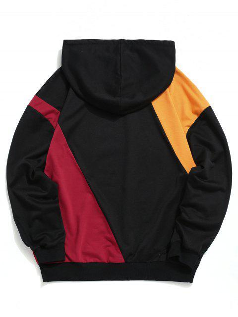 Carta china Imprimir Colorblock empalmado con capucha con cordón - Multicolor XL Mobile