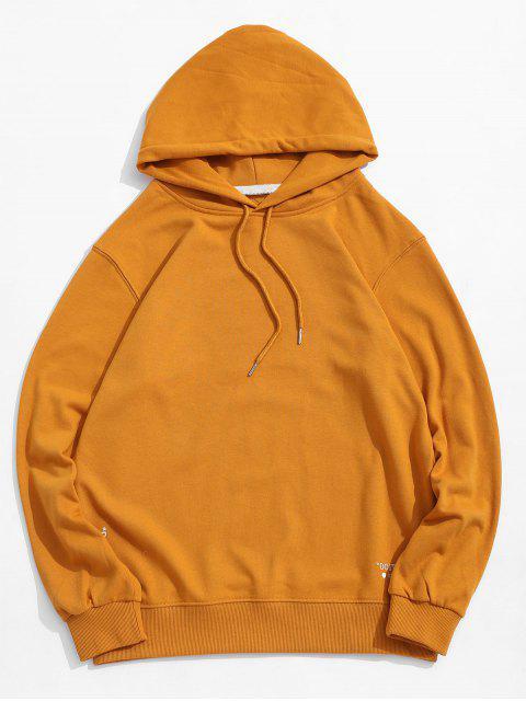 Carta cordón Estampado con capucha - Amarillo Brillante XS Mobile