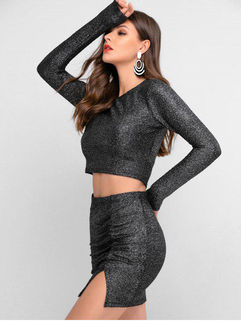 ZAFUL金銀線縫褶飾裙Bodycon集 - 多-A S Mobile