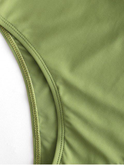ZAFUL Halter高筒露背連體泳衣 - 淺綠色 M Mobile