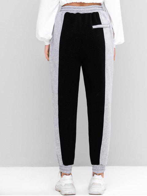 羊毛雙色口袋抽繩短褲慢跑者 - 灰色 One Size Mobile