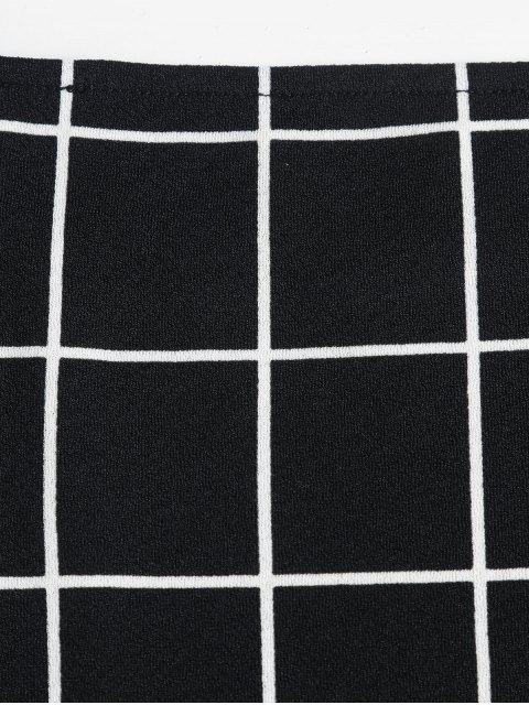 ZAFUL Vestido Ajustado de Cuadros - Negro S Mobile