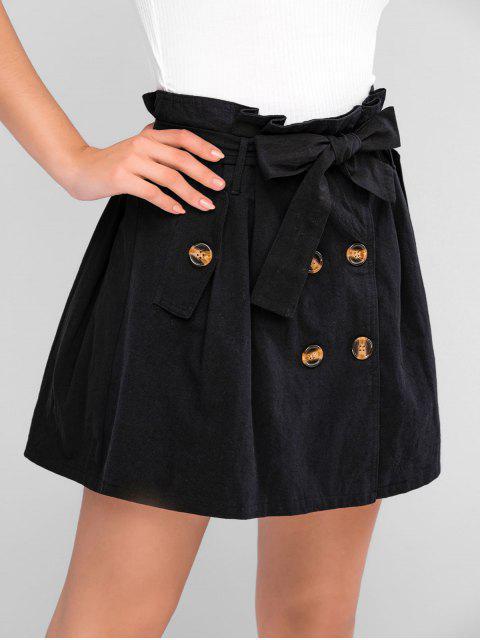 ZAFUL Mini Falda de Pana con Cinturón - Negro S Mobile
