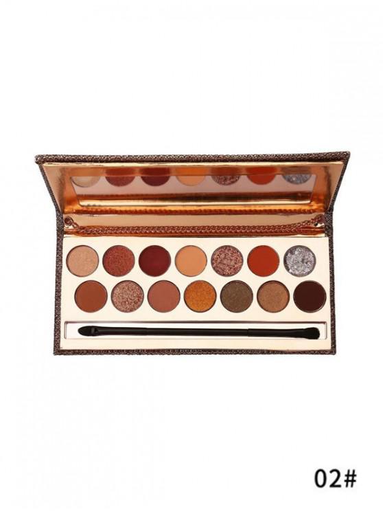 sale 14 Color Pigmented Eyeshadow Palette - MULTI-B