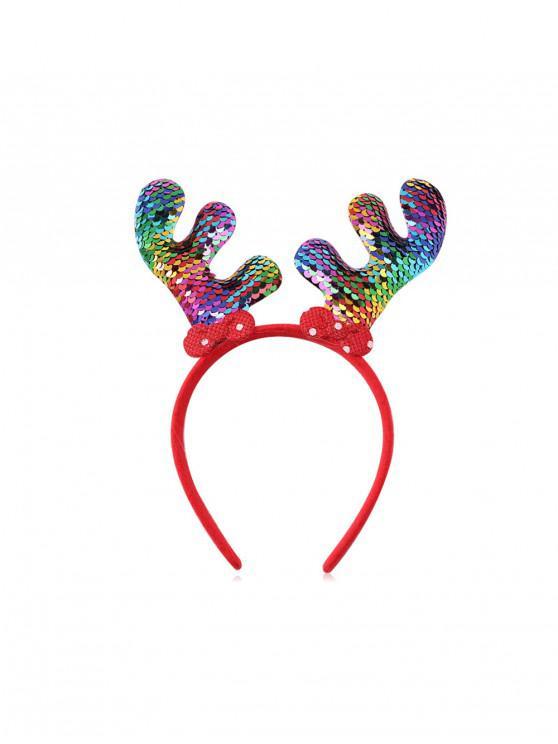 Bradul de Crăciun Elk Sequin hairband - Multi-B