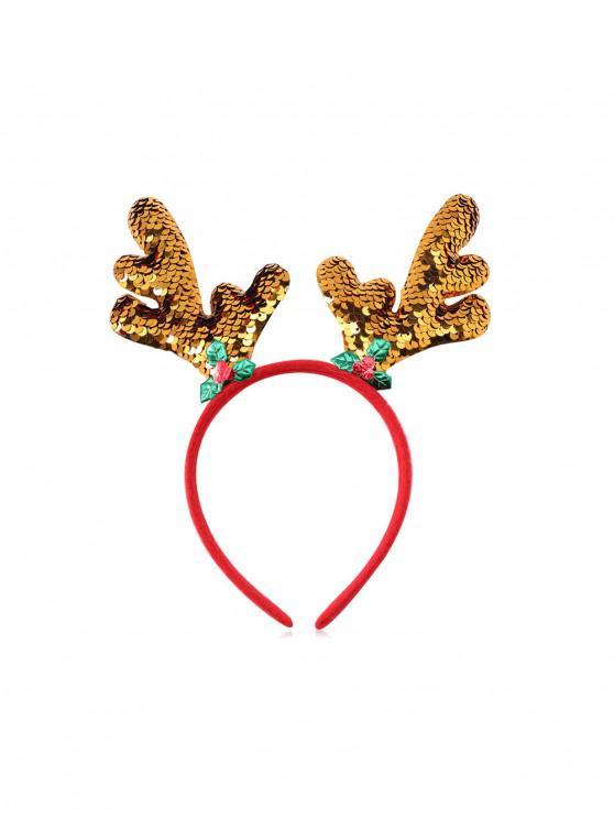 Bradul de Crăciun Elk Sequin hairband - Multi-A