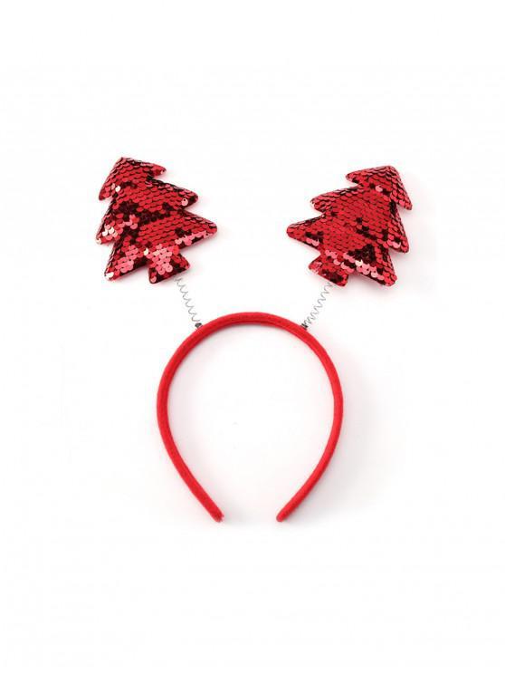 best Christmas Tree Elk Sequin Hairband - MULTI-E