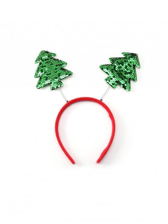 Bande de Cheveux Arbre de Noël et Wapiti à Paillettes - Multi-D