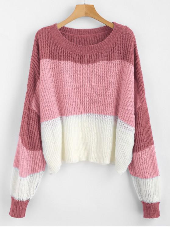 ZAFUL Jersey de Rayas de Gran Tamaño - Multicolor-E Talla única