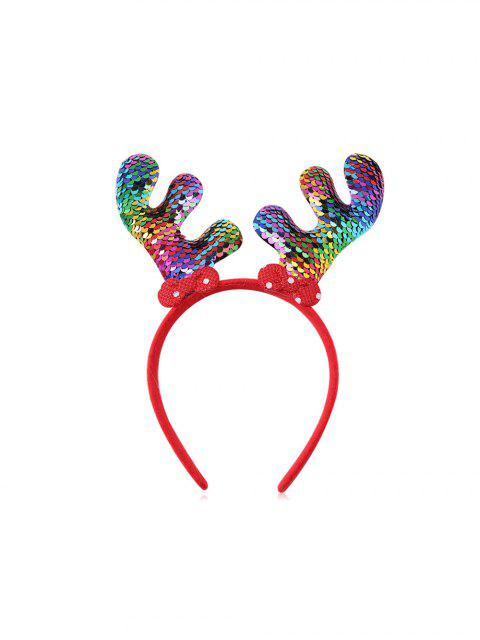 trendy Christmas Tree Elk Sequin Hairband - MULTI-B  Mobile