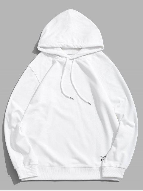 Carta cordón Estampado con capucha - Blanco L Mobile