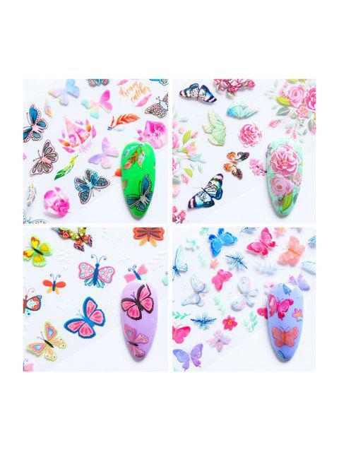 Décoration d'Ongles Papillon 10 Pièces - Multi-A  Mobile