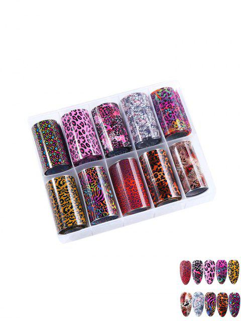 women's Leopard Pattern Print Nail Decoration - MULTI-A  Mobile