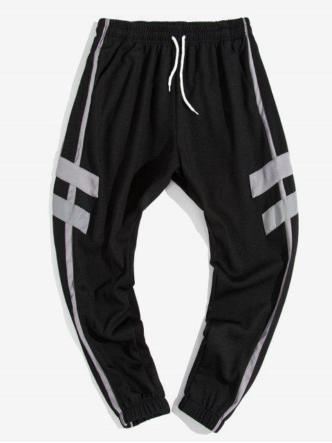 Pantalones de Jogger Casual con Estampado de Letras - Gris XS Mobile