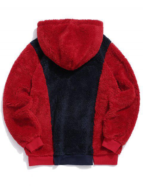 ZAFUL Lema Colorblock Fuzzy con capucha - Multicolor M Mobile