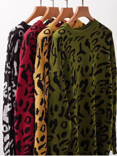 Elch Graphik Weihnachten Tropfen Schulter Tunika Pullover - Armeegrün XL Mobile