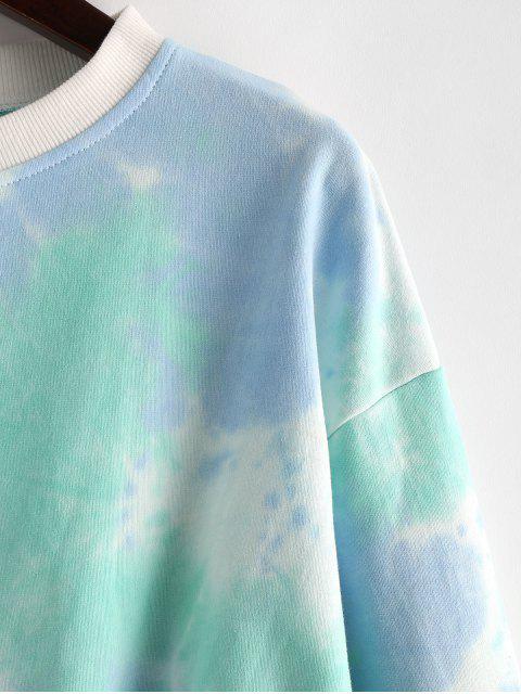 Sudadera Recortada Diseño Teñido - Multicolor-D S Mobile
