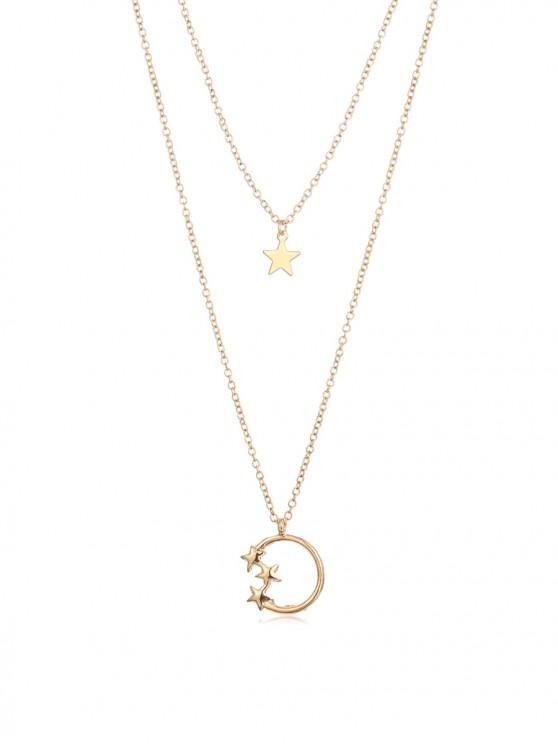 new Star Layered Necklace - GOLD