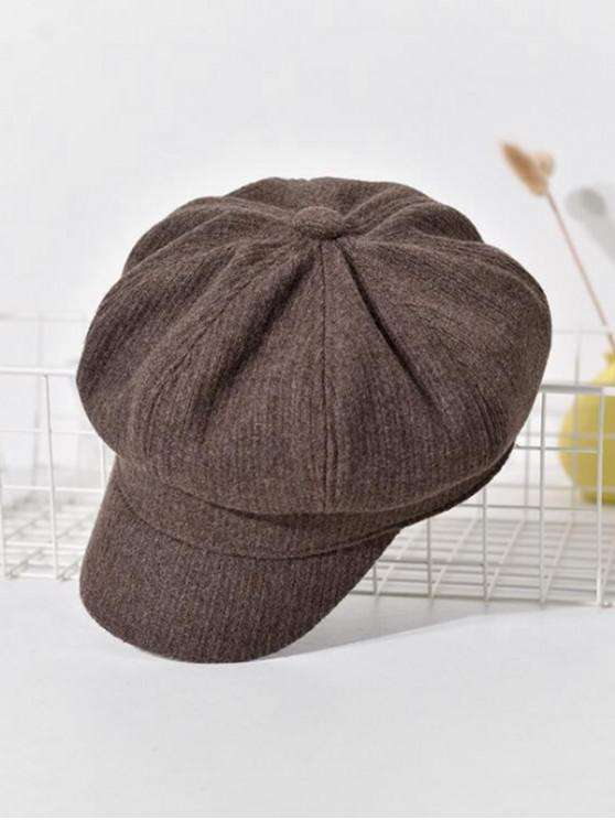 shops Peaked Retro Newsboy Hat - COFFEE