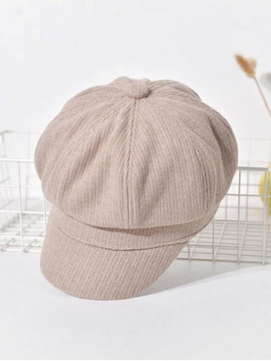 fashion Peaked Retro Newsboy Hat - BEIGE