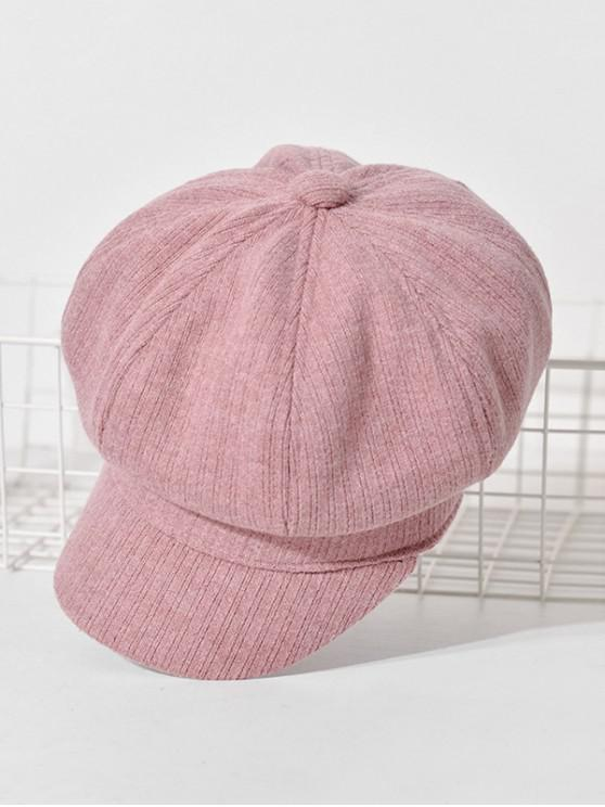fancy Peaked Retro Newsboy Hat - PINK