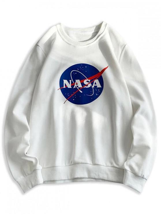 Scrisoare grafică model Sweatshirt Casual - alb L