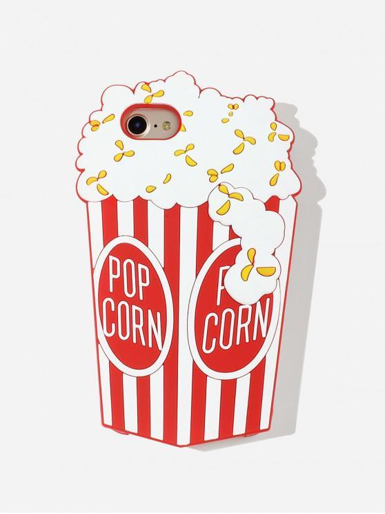 Cas de Téléphone Pop-corn Dessin Animé pour IPhone - Rouge 7/8