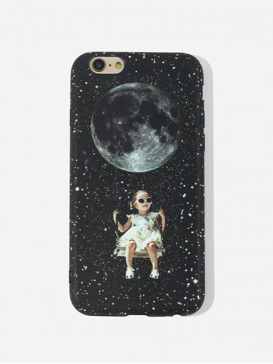 lady Girls Swing TPU Phone Case For IPhone - BLACK 6/6S
