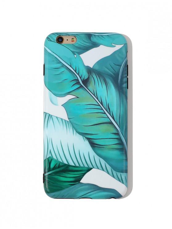 best Tropical Leaf TPU Phone Case For IPhone - DARK TURQUOISE 6/6S