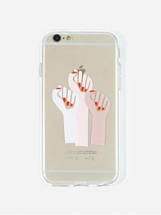 Cas de Téléphone Motif de Geste pour IPhone - Rouge Lave 6/6s