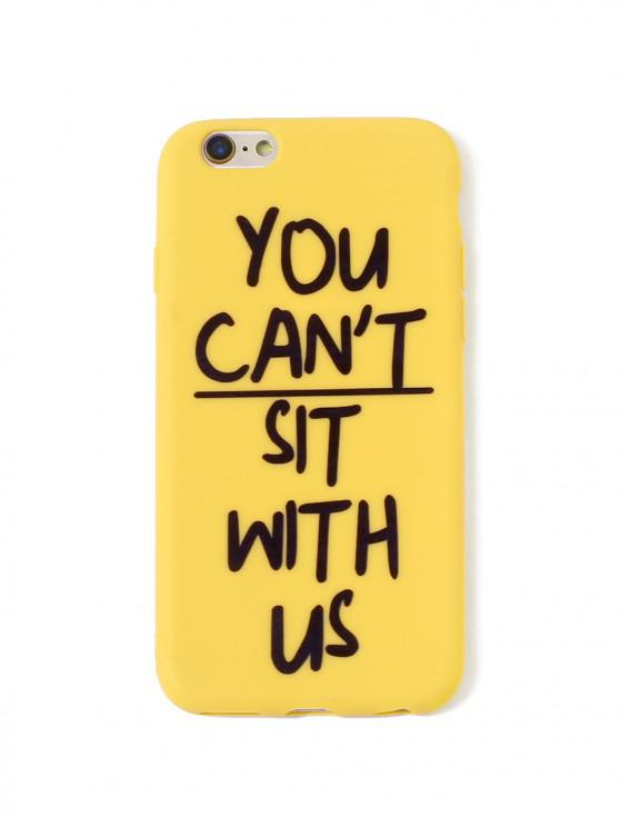 trendy Letter TPUPhone Case For IPhone - MUSTARD 6/6S