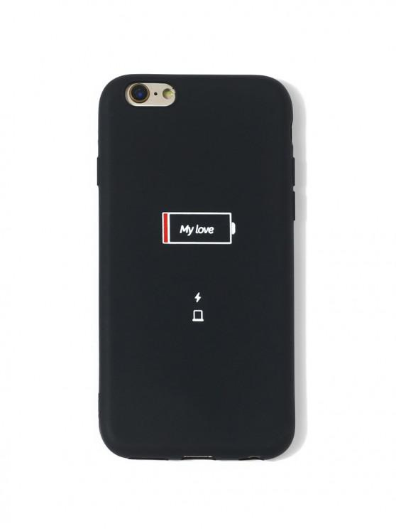 fancy Low Battery Print Phone Case For IPhone - BLACK 6/6S