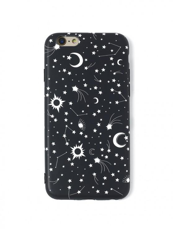 sale Star Moon TPU Phone Case For IPhone - BLACK 6/6S