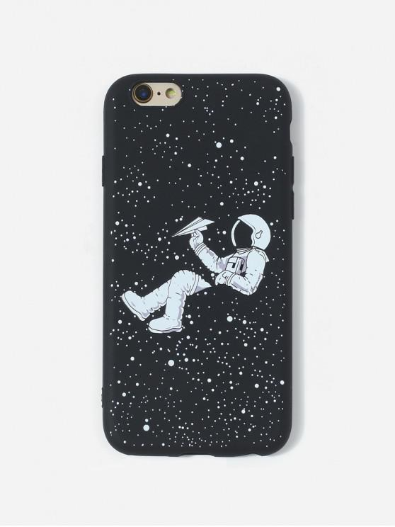 women Astronaut TPU Phone Case For IPhone - BLACK 6/6S