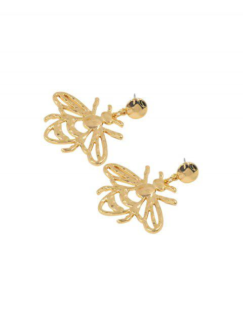 Пчела Ажурные Серьги С подвеской - Золотой  Mobile