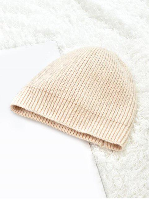 new Winter Solid Knitted Skullcap Hat - BEIGE  Mobile