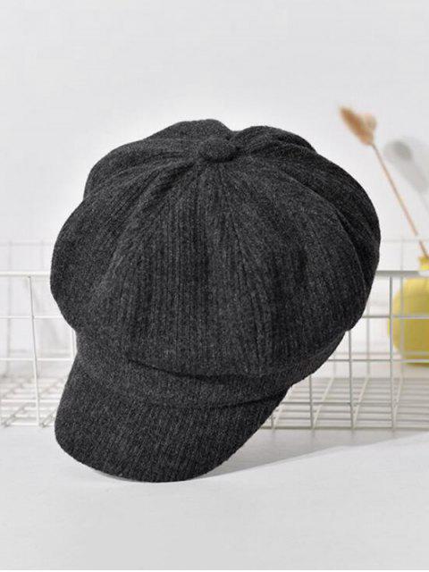 outfit Peaked Retro Newsboy Hat - DARK SLATE GREY  Mobile