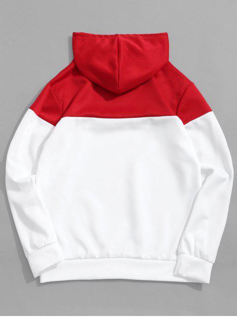 El bloqueo de color Grupo de impresión de letras con capucha con cordón - Blanco XL Mobile
