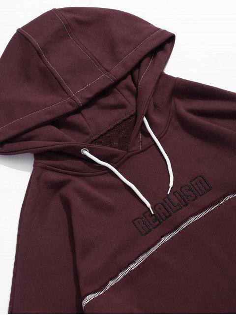 Realismo con capucha hombro gráfico de Creative bolsillo gota - Vino Tinto M Mobile